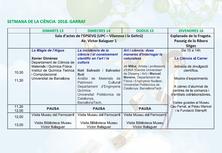 Celebració de la 23ª Setmana de la Ciència SC[18]: Actes al Garraf