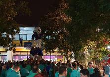 Celebració de la Diada Castellera dels Llunàtics