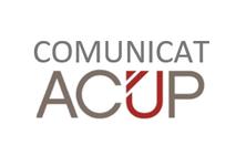 Comunicat de l'Associació Catalana d'Universitats Públiques (ACUP)
