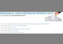 Convocatòria d'eleccions per a la renovació parcial de la Junta d'Escola de l'EPSEVG -  Tardor 2019