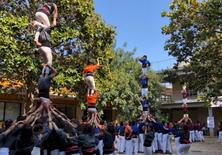 Diada Castellera dels Llunàtics a l'EPSEVG