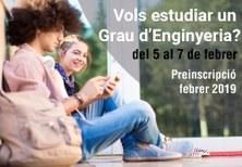 L'EPSEVG ofertarà al febrer de 2019 places de nou accés a estudiants en tres dels seus Graus d'àmbit Industrial
