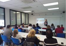 Celebració de la setmana de la dona UPC a l'EPSEVG amb la participació i lideratge de la Vra Gemma Fargas, de responsabilitat social i igualtat de la UPC.