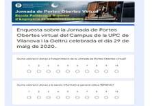 Resultats de l'enquesta de la Jornada de Portes Obertes (JPO) Virtual de l'EPSEVG del dia 29-05-2020