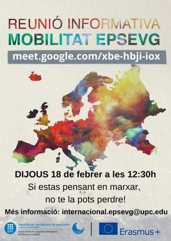 Sessió informativa sobre programes de mobilitat curs 2021-22