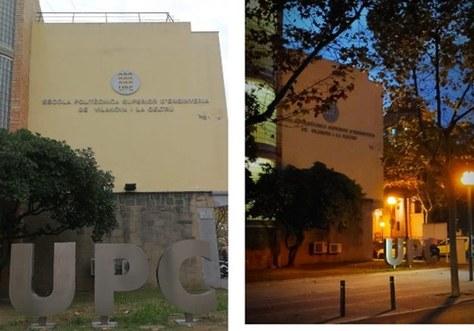 S'han instal·lat les lletres 'UPC' a la façana de l'edifici principal de l'EPSEVG