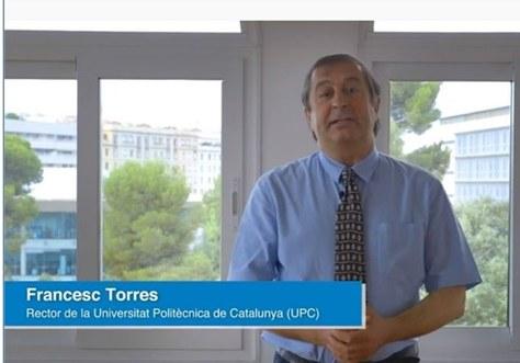 Videocomunicat del Rector de la UPC a la comunitat universitària del dia 15-07-2020