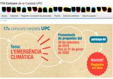17º Concurso de la Carpeta UPC: El tema de esta edición es la Emergencia Climática