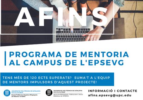 Se pone en marcha AFINES: programa de mentoría en la EPSEVG
